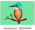 king fisher | Shutterstock .eps vector #585545645
