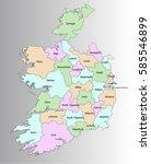map of the republic of ireland | Shutterstock .eps vector #585546899