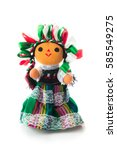 handmade mexican rag doll... | Shutterstock . vector #585549275