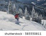 Freeride Ski Touring Skier ...