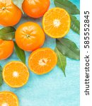 Fresh Citrus Fruits Tangerines...