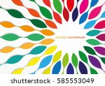colorful abstract background | Shutterstock .eps vector #585553049