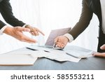 image of two young businessmen... | Shutterstock . vector #585553211