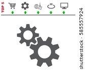 gear icon vector flat design...   Shutterstock .eps vector #585557924