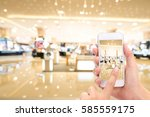 woman hand taking a picture... | Shutterstock . vector #585559175