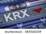 korea exchange  krx  is the... | Shutterstock . vector #585560339