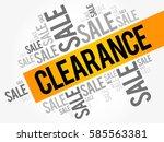 clearance sale words cloud ... | Shutterstock .eps vector #585563381