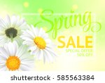 spring sale concept. summer...   Shutterstock .eps vector #585563384