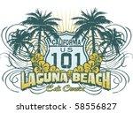 cruise laguna | Shutterstock .eps vector #58556827