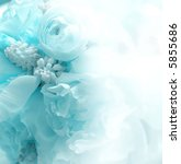 blue halftone flower bouquet...   Shutterstock . vector #5855686