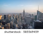 aerial view of manhattan... | Shutterstock . vector #585569459