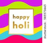 holi festival gold minimal logo ...