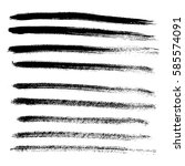 set of different grunge brush... | Shutterstock . vector #585574091