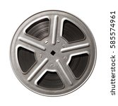 Film Reel Isolated On White...
