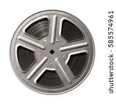 film reel isolated on white... | Shutterstock . vector #585574961