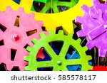 Colorful Cog Texture Gears...