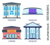 cinema  theater  stadium and...   Shutterstock .eps vector #585583841