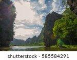 trang an landscape complex | Shutterstock . vector #585584291
