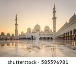 sheikh zayed grand mosque at... | Shutterstock . vector #585596981