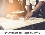 business teamwork discussing... | Shutterstock . vector #585604949