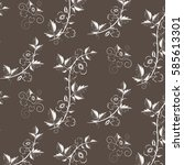 retro floral background with...   Shutterstock . vector #585613301