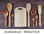 Wooden Kitchen Utensils On...