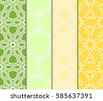 set of modern abstract floral... | Shutterstock .eps vector #585637391