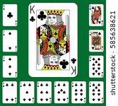 playing cards suit cross on a... | Shutterstock .eps vector #585638621