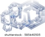 mechanical abstract background. ... | Shutterstock . vector #585640505