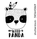 panda illustration vector. | Shutterstock .eps vector #585645869
