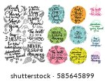 vector set of inspirational... | Shutterstock .eps vector #585645899