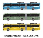 set of bus rapid transit or brt ... | Shutterstock .eps vector #585655295