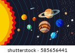 solar system structure. planets ... | Shutterstock .eps vector #585656441
