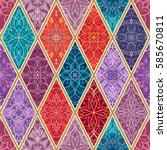 vector seamless texture.... | Shutterstock .eps vector #585670811