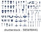 modern lightning architectural... | Shutterstock .eps vector #585698441