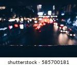blured city light of traffic on ... | Shutterstock . vector #585700181