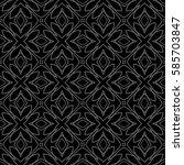 floral creative geometric... | Shutterstock .eps vector #585703847