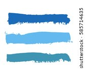 realistic color vector brush... | Shutterstock .eps vector #585714635
