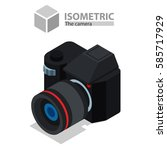 camera. isometric | Shutterstock .eps vector #585717929