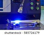 blue light quality inspection | Shutterstock . vector #585726179