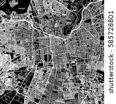 santiago one color map  vector...   Shutterstock .eps vector #585728801