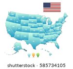 vector map of the united states ... | Shutterstock .eps vector #585734105