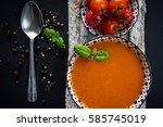 tomato soup  | Shutterstock . vector #585745019