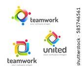 logo design vector template.... | Shutterstock .eps vector #585746561