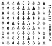 christmas tree icons set....   Shutterstock .eps vector #585749411