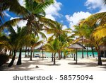 beautiful tropical beach in... | Shutterstock . vector #58575094