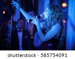moscow   13 november 2015  ... | Shutterstock . vector #585754091