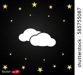 cloud web vector icon