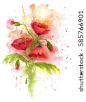 watercolor illustration of... | Shutterstock . vector #585766901