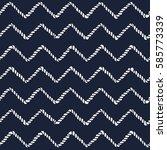 marine rope line seamless... | Shutterstock .eps vector #585773339